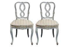 French Provincial Chairs, Pair