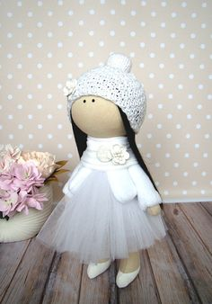 Handmade doll Fabric doll Rag doll Nursery doll Art doll Baby