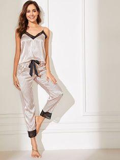 Cute Sleepwear, Satin Sleepwear, Sleepwear Women, Pajamas Women, Nightwear, Lingerie Bonita, Jolie Lingerie, Babydoll Lingerie, Sexy Lingerie