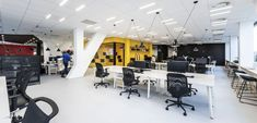 B² Architecture has created a dynamic office design for global marketing agency DDB, located in Prague, Czech Republic. The main the design concept is Open Office, Creative Storage, Architecture Office, Lounge Areas, Design Agency, Retail Design, Optical Illusions, Prague, Wall Design