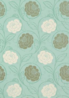 MORRISTOWN, Aqua, T9185, Collection Avalon from Thibaut