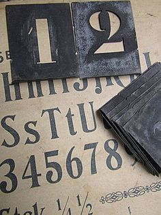 bea old letters & numbers