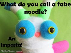 cute & clean food kids joke for children featuring an adorable monster :)