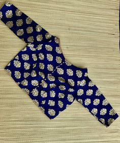 Banarasi Silk Blouse in Navy Blue, Size - 38