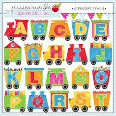 Alphabet Train Cute Digital Clipart for Commercial or Personal Use, Alphabet Clipart, Alphabet Graphics, Train Cars on Etsy, $5.90 AUD