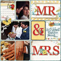 From scrapgirls.com blog: journal card digital scrapbooking layout