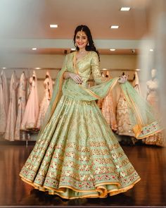 Practicing being a bride 😋 _ 📸 . Indian Bridal Outfits, Indian Bridal Lehenga, Indian Gowns, Indian Designer Outfits, Indian Attire, Indian Ethnic Wear, Pakistani Fashion Party Wear, Indian Party Wear, Indian Fashion