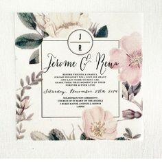 """A Singapore wedding :) If you would like silkscreen or digital invites do pop us an email on info@peepdesigns.com  #wedding #invites #design #silkcreen #screenprint #engaged #melbournewedding #singaporewedding #squareinvite #floral #floralinvite #singapore #destinationwedding"""