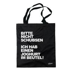 Siviwonder - Beutel cooler Spruch - BITTE NICHT SCHUBSEN JOGHURT - Stoffbeutel - Sprüche Jute http://www.amazon.de/Siviwonder-SCHUBSEN-JOGHURT-Stoffbeutel-Spr%C3%BCche/dp/B00PNLT2AA/ref=sr_1_1?m=A15H3N8Z1PHTU9&s=merchant-items&ie=UTF8&qid=1423929539&sr=1-1&keywords=beutel