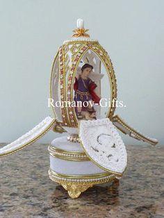 "Russian St Michael The Archangel Music Box Egg Plays ""Wind Beneath My Wings"" | eBay"