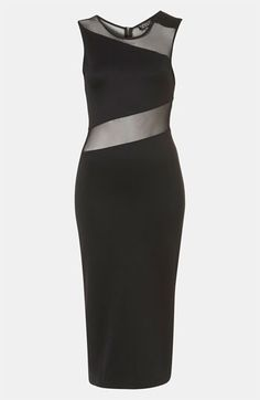 Topshop Zigzag Mesh Bodycon Midi Dress available at #Nordstrom