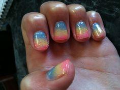 Awesome, glittery shellac nails!!