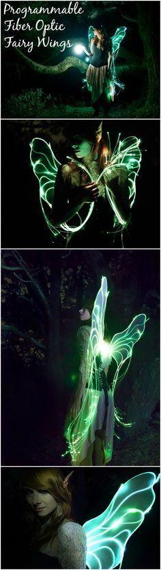Programmable Fiber Optic Fairy Wings | For anyone who ever wanted to grow up to be a magical fairy princess, this project is for you.