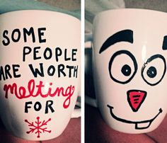 "Olaf coffee mug ""some people are worth melting for"""