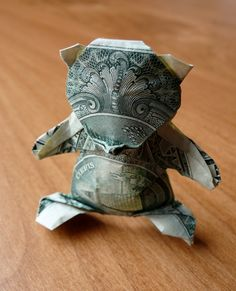 Fun And Eco-Helpful Solutions To Remodel Your Yard Dollar Origami Teddybear By Craigfoldsfives On Deviantart Origami Love Heart, Origami Star Box, Origami Fish, Origami Stars, Origami Boxes, Origami Ideas, Origami Flowers, Money Origami, Origami Paper