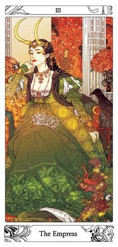 Fanart loki Lady Loki The empress tarot card