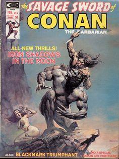 Savage Sword of Conan # 4 (February, 1975). Cover by Boris Vallejo.