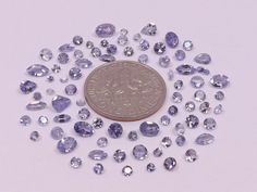Sale  Mixed Lot of Natural Tanzanite from scrap gold silver & vintage jewelry