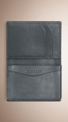 London Leather Card Case Stone Grey | Burberry