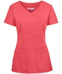 Grey's Anatomy Scrubs Signature Stretch Mock Wrap Top - M - Galaxy Blue Scrubs Outfit, Scrubs Uniform, Camo Scrubs, Scrub Skirts, Scrubs Pattern, Greys Anatomy Scrubs, Scrub Jackets, Medical Scrubs, Nursing Scrubs
