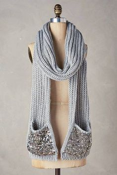 A scarf with built-in pockets.