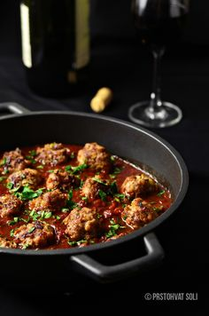 Meatballs in red wine sauce. Translate to English from Serbian =)