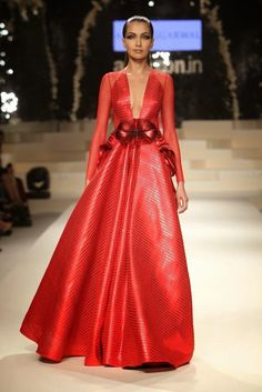 Amazon India Fashion Week Autumn/Winter 2015 - Day 5 - Grand Finale #AIFW #autumnwinter #2015 #Amazon #IndiaFashionWeek #IndianFashionShows #indianfashion #indiandesigners #GrandFinale #indianfashionclothes #catwalk #beautiful #outfit #look #style #long #red #indiandresses #dress #elegant