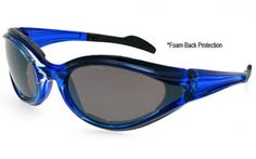 Crystal Blue Frame/Smoke Lens  #motorcycle #sunglasses #ride #safe #safety #sunnies #summer  www.anysunglasses.com www.pinterest.com/anysunglasses.com