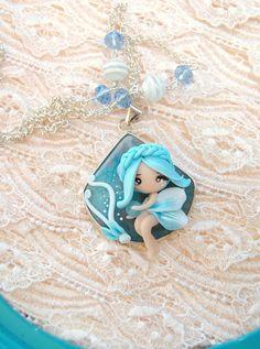 princess necklace #Polymerclay #fimo #jewerly