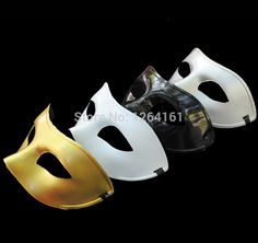 Cheap fashion photography black white, Buy Quality fashion korean directly from China fashion goat Suppliers: Half-Face Classic Mask Blank Black/White/Sliver/Golden Masquerade Hio-Pop Cosplay For Man Women Halloween Pa