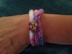 "Knitted bracelet by ""it's sew woolly"""