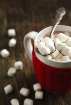We like our hot cocoa with lots of extra marshmallows :)