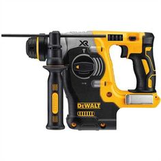 DEWALT XR Max SDS-Plus Cordless Rotary Hammer (Tool Only) at Lowe's. The MAX XR Brushless rotary hammer is a high-performance drill that is powered by a DEWALT brushless motor and a durable German Hammer Tool, Cordless Hammer Drill, Cordless Tools, Cheap Power Tools, Woodworking Power Tools, Diy Woodworking, Dewalt Tools, Dewalt Drill, V Max