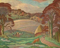 """Sussex Landscape"" by Ethelbert White (oil on canvas)"