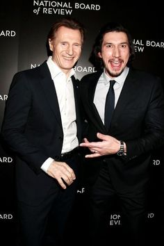Liam Neeson and Adam Driver also known as Qui-Gon Jinn and Kylo Ren