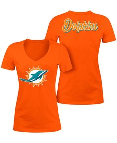 Women's Junk Food Cream Miami Dolphins All American Raglan Three ...