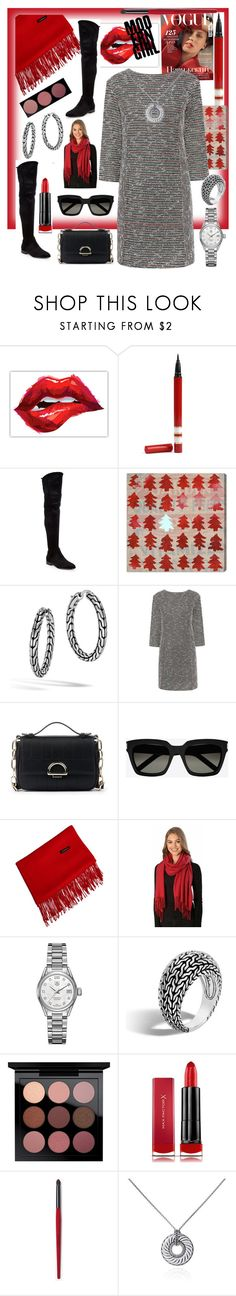 """""""Modern Day Look👩🏻"""" by mdfletch ❤ liked on Polyvore featuring Donna Karan, Oliver Gal Artist Co., John Hardy, Paul & Joe Sister, Sole Society, Yves Saint Laurent, TAG Heuer, MAC Cosmetics, Max Factor and David Yurman"""