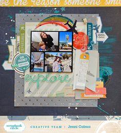 paper C A R D inal: explore - Scrapbook Circle June 2015
