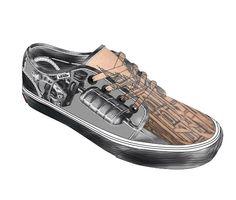 Shoe template tattoo gun