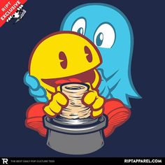Ghost T-Shirt - Pac-Man T-Shirt is $11 today at Ript!