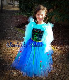 Frozen's Anna inspired tutu dress by WindmillsandBubbles on Etsy, $20.00