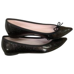 REPETTO \N BLACK PATENT LEATHER BALLET FLATS. #repetto #shoes
