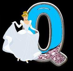 Alfabeto de Princesas Disney con fondo negro. | Oh my Alfabetos!