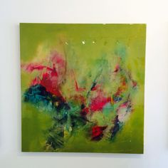 Green abstract painting by BrittanyLeeHoward