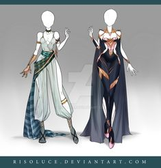 (OPEN) Adoptable Outfit Auction 124-125 by Risoluce.deviantart.com on @DeviantArt