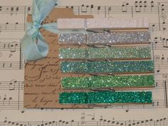 glitter clothes pin - not sure what to use them for but they are neat!
