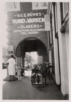 Slagerij Buhrs, Zonneplein. Foto: Stadsarchief Amsterdam