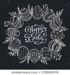 Easter Backdrops Black And White Background Patterned Backdr.- Easter Backdrops Black And White Background Patterned Backdrops Easter Backdrops Black And White Background Patterned Backdrops - Chalkboard Lettering, Chalkboard Designs, Chalkboard Drawings, Theme Background, Background Patterns, Background Images, Decoration Creche, Chalk Pictures, Easter Backdrops