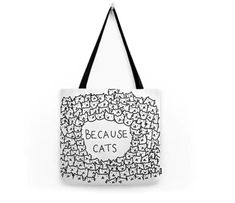 Because cats Tote Bag by kittenrain Cat Lover Gifts, Cat Lovers, Cat Bag, Kitten, Reusable Tote Bags, Cats, Stuff To Buy, Accessories, Gift Ideas