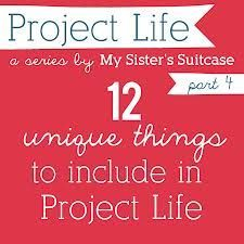 My Sister's Suitcase: 12 {Unique} Things to Include in Project Life - I love the business card idea! Project Life Scrapbook, Project Life Layouts, Project Life Cards, Project 365, Life Journal, Journal Cards, Journal Prompts, Journal Ideas, Book Projects